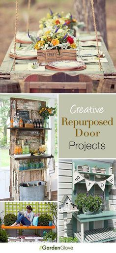 Repurposed Door Projects for the Garden • Lots of ideas & Tutorials!...