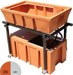 Amazon.com: AquaBundance Aquaponics System, Terra Cotta: Patio, Lawn & Garden