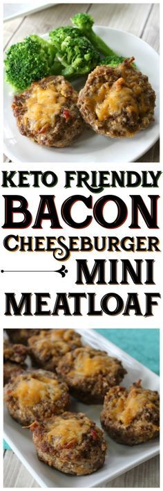 Keto Friendly Bacon Cheeseburger Mini Meatloaf