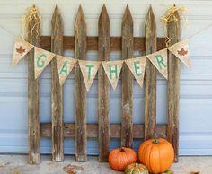 Thanksgiving Decor Burlap Banner / Photography Prop / Fall Decor on Etsy, $30.00