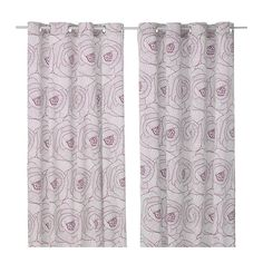IKEA - INGERLISE, Tenda, 2 teli, , Il bordo superiore con occhielli ti permette di appendere le tende direttamente su un bastone per tende.