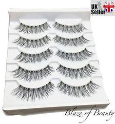 530fe971308 Details about 5 Prs Demi Wispies False Eyelashes Natural Wispy Strip Eye  Lashes Set Makeup UK