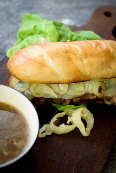 Slow cooker french dip sandwiches are the perfect easy dinner! All real ingredients combine quickly in the morning and slow cook all day.