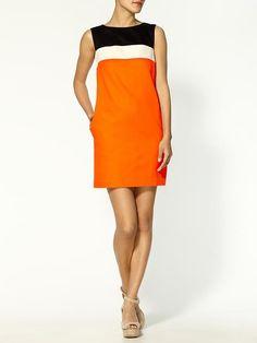 Erin Fetherston Color Block Shift Dress