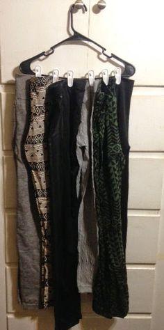 DIY- Idea on how to hang/organize your leggings. Master Bedroom Closet, Bedroom Closets, Closet Organization, Organizing, Get My Life Together, My Room, Wardrobe Rack, Mountain Brook, Leggings