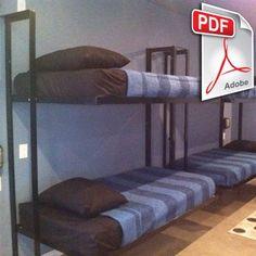 DIY Folding Bunk Bed Plans   DIY Welding Plans