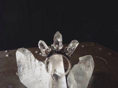 Triple crystal ring