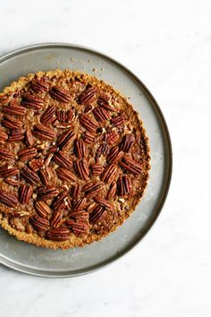 Pecan pie, gluten free and vegan. Food Bandits