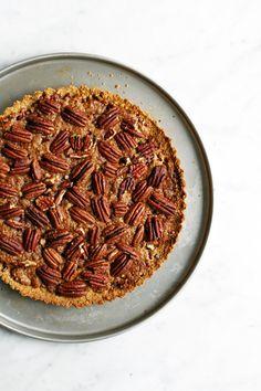 Pecan pie, gluten free and vegan. Food Bandits