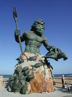 King Neptune statue, Virginia Beach's boardwalk
