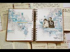Magical world - Mixed media art journal spread - YouTube