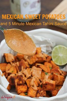 Change up Taco Tuesday with this Mexican Sweet Potatoes with 5 ingredients, yum!