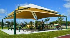 Shade Systems - Sun shade structures, playground shade covers, and fabric canopies