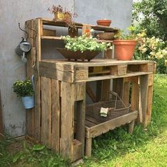 Pallet Planter And Storage Boxes in your Garden