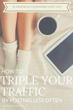 How I Tripled My Traffic By Posting Less - Sass & Shamrocks - http://www.sassandshamrocks.com/tripled-traffic/