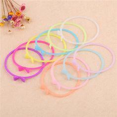 10pcs-Women-Silicone-Rubber-Glow-Bracelet-Cuff-Wristband-Wrist-Band-Bangle