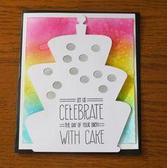 Custom Happy Birthday GiftCard Holder- Birthday Card Funny// Birthday Party Invitation // Rainbow watercolor //Birthday Cake //Rainbow Party