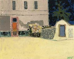 Wim Oepts - A COURT YARD, oil on canvas