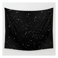 Stars Wall Tapestry ($39) ❤ liked on Polyvore featuring home, home decor, wall art, wall tapestries, black white wall art, home wall decor, mounted wall art, cycling wall art and outdoor wall art