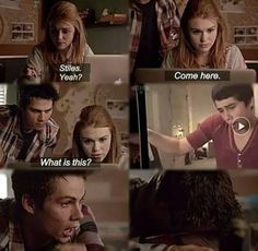 teen wolf, stiles, and lydia afbeelding