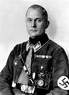 Walter Hinkler-Shtennes, a retired police captain, poses for a portrait in his SA uniform in the early 1930s.
