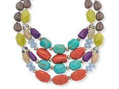 "Premier Designs Spring Break Necklace 20"" NIB Free Priority S&H #PremierDesigns #Statement"