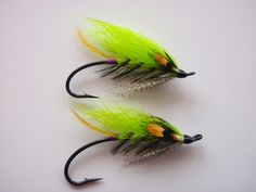 Bright green is an effective color for Salmon and Steelhead  - these hairwing beauties should do well.