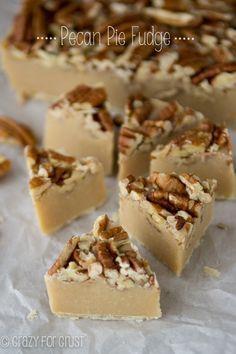 Pecan Pie Fudge Recipe   crazyforcrust.com ~ This Pecan Pie Fudge is a great way to eat your candy…and pie too!