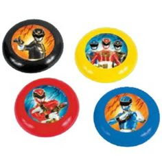 Battle your Power Ranger friends and see who can send these Flying Discs the farthest!
