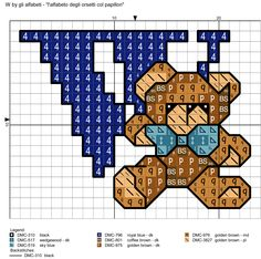 alfabeto degli orsetti col papillon: W
