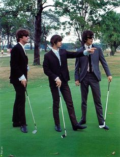 The Beatles on the golf course