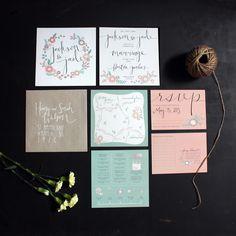 Wedding Invitations  ::  designed by Jessie Milligan