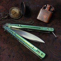Custom Balisong Butterfly Knife | 1000+ images about BALISONGS & KNIVES :) on Pinterest | Butterfly ...