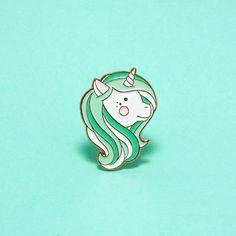 Mint Unicorn Enamel Pin Soft Enamel Pin Cloisonné by LuxCups
