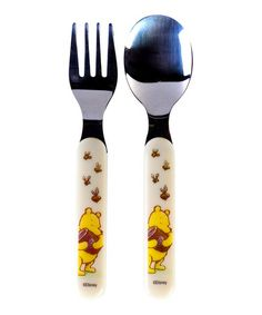 Love this Classic Pooh Fork & Spoon Set by Winnie the Pooh on #zulily! #zulilyfinds