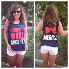 amazing 4th of july shirt! want it! MERICA