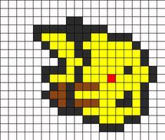 Pikachu Perler Bead Pattern   Bead Sprites   Characters Fuse Bead Patterns