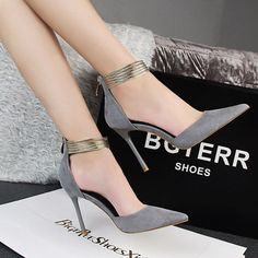 Ankle Straps High Heels Shoes