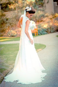 Courtney wearing her gorgeous customized Lea-Ann Belter Tess wedding gown! photo - Trailbrook Photography by Lea Ann Belter Bridal, via Flickr