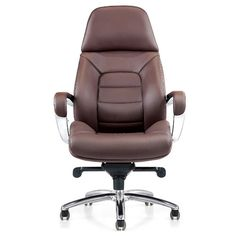 Gates Genuine Leather Aluminum Base High Back Executive Chair | Zuri Furniture…