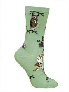 Owls Mint Socks