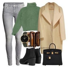 """Без названия #1571"" by sabina-127 on Polyvore featuring мода, H&M, Yves Saint Laurent, Boohoo, Hermès, Coach и CLUSE"