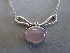 Sterling Silver Rose Quartz Pendant PDT76SS by RichelleJewelry