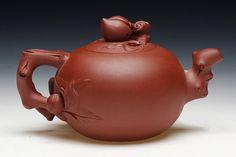 Shou tao teapot  YiXing  zisha Pottery Handmade by Chinateaware, $135.00