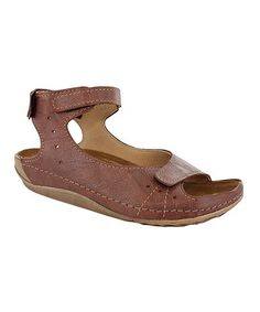 Take a look at this Café Columbus Ankle-Strap Sandal by Wolky on #zulily today!