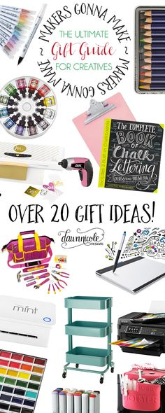 The Ultimate Gift Guide for Creatives! Over 20 gifts ideas at various price levels. | dawnnicoledesigns.com