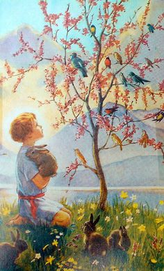 Morning Carol by Margaret W. Tarrant (1888-1959, English)