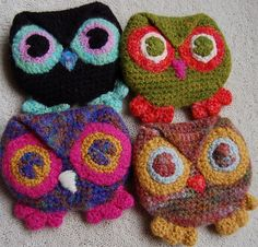 Ravelry: Little Owl purse pattern by Brenda K. B. Anderson (FREE PATTERN)