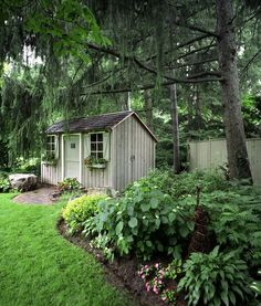 Shed Landscaping, Landscaping Software, Rustic Gardens, Outdoor Gardens, Home Design, Garden Design Plans, Beautiful Gardens, Beautiful Flowers, Beautiful Landscapes