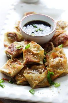Easy Asian Dumplings with Hoisin Sesame Dipping Sauce